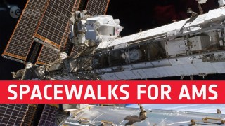 Spacewalks for AMS