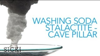 Washing Soda Stalactite - Cave Pillar - Sick Science! #084