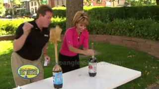 Cool Science Experiment – Original Mentos Diet Coke Geyser