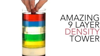 Amazing 9 Layer Density Tower – Sick Science! #012