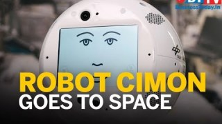 Artificial Intelligence robot CIMON is in space helping astronauts