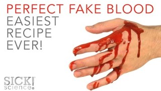 Perfect Fake Blood – Easiest Recipe EVER – SICK Science! #230
