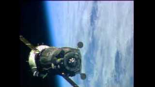Soyuz hooks up to the station