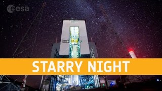 Starry night at the Ariane 6 launch base