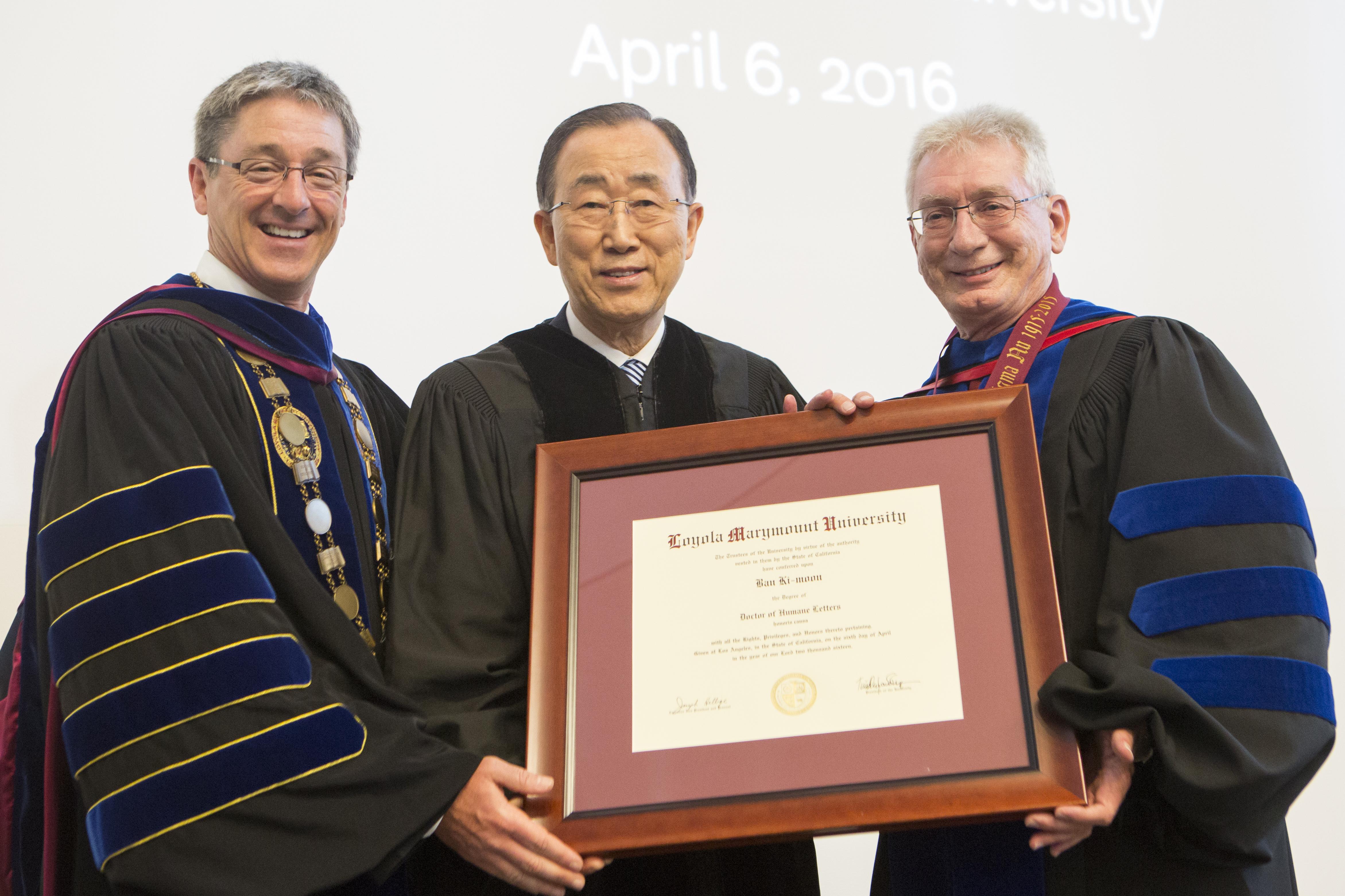U8A8414 - UN Secretary-General Ban Ki-moon Receives Honorary LMU Degree