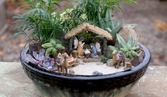 Nativity Fairy Garden by Garden Answer