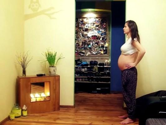 Stop Motion Pregnancy Time Lapse