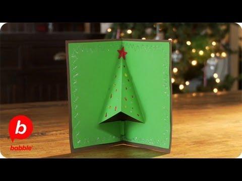 Τρισδιάστατη pop – up χριστουγεννιάτικη κάρτα