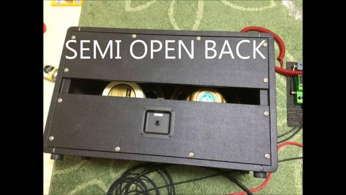 Gear: Cabinet Back panel comparison. Open vs Closed vs Semi open