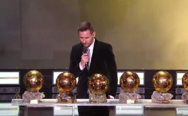 Messi Wins Record Sixth Ballon D Or One News Page Video
