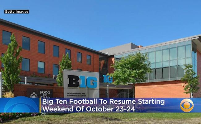 Big Ten Football To Resume Starting Weekend Of One News
