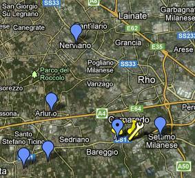 Cartina storica della Grande Milano (4/6)