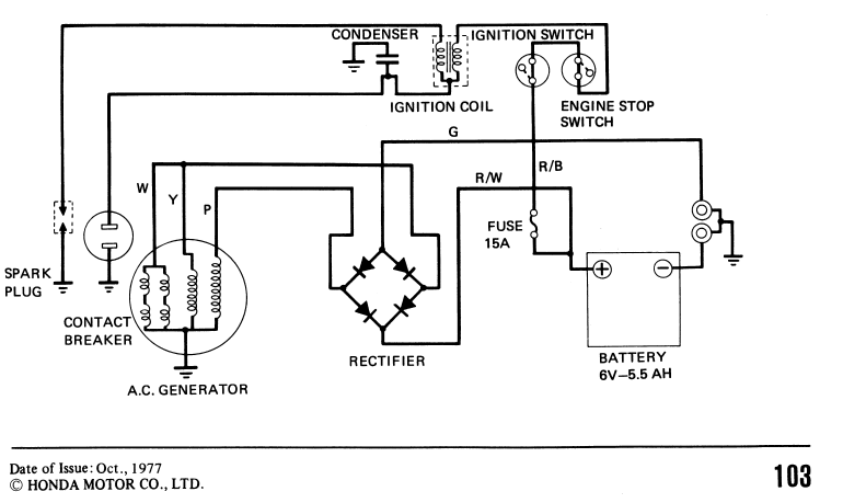 1977/1978 CT90 wiring diagram, need help understanding