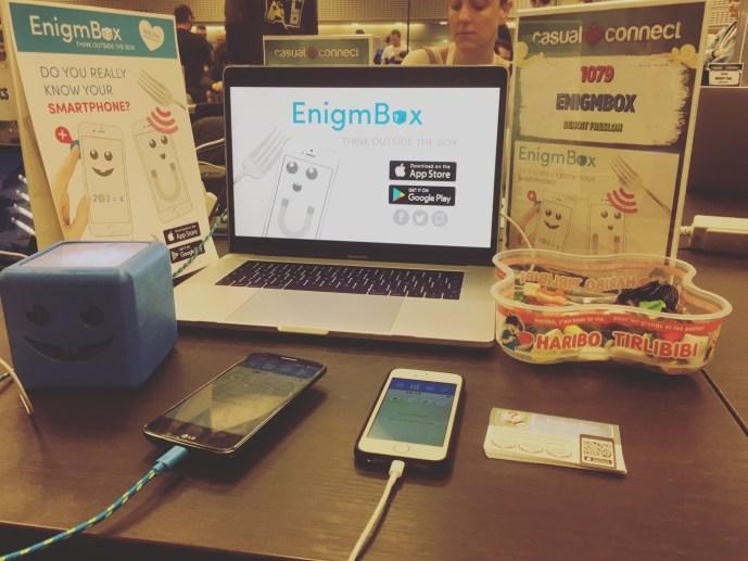 Stand de EnigmBox à L'IndiePrize