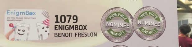 2 nominations pour EnigmBox à L'IndiePrize