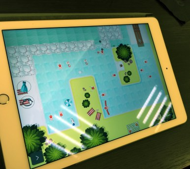 Swim Out sur iPad