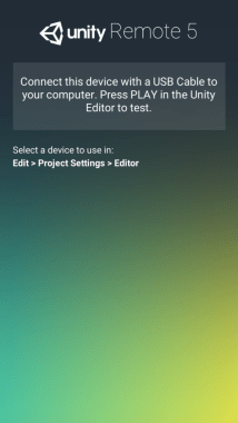 Installation d'Unity Remote
