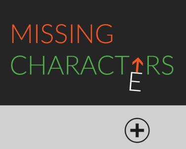 Ludum Dare 45 - Missing Characrters