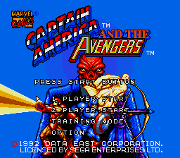 Captain America and the Avengers Title Screen