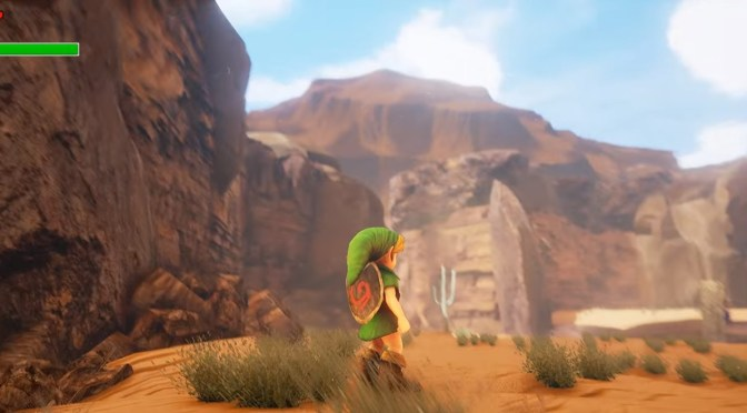 Gerudo Valley looks spectacular in Unreal 4 Engine