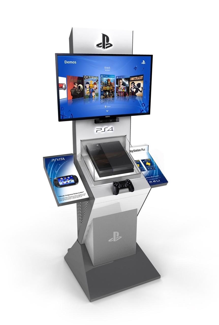 ps4 kiosk, playstation 4 kiosk