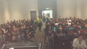 The panel was PACKED!