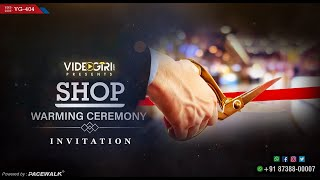 shop opening invitation card matter in