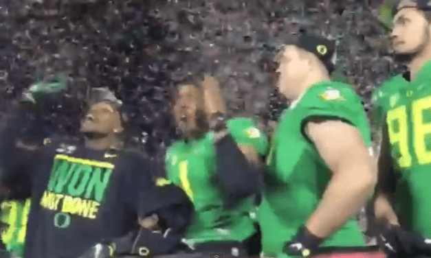 "Oregon Ducks Chant ""No Means No"" While Doing the Tomahawk Chop – Even Though Their School is Embroiled in its Own Sexual Assault Scandal"
