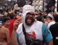 Tooth Paste Man Cuts the Rug at Ultra 2013!