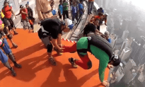 Amazing Base Jumps Off Building