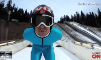 Ski Jumper Shoots Awesome Selfie Video While Flying Through The Air
