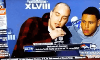 9/11 Conspirator Crashes Super Bowl Press Conference