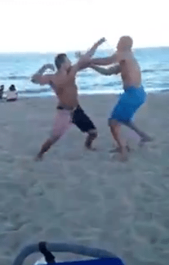 Old Dude Knocks Out Guy on Las Olas Beach