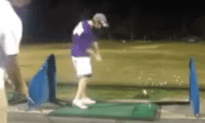 Awesome Trick Golf Shot