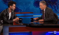 Adam Levine on the Daily Show