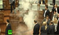 Politicians In Kosovo Throw Tear Gas At Each Other