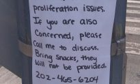 Sign Taped To A Pole Outside The Chronicle Office