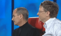 Steve Jobs and Bill Gates Couch Talk