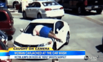 Woman Jumps on Top of Her Car Jacked Car, Pedestrian Shoots Car Thief to Stop Him