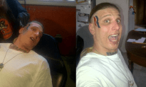 How Do You Know a Dumb Ass When You See One? He Has Mitt Romney's Logo Tattooed on His Face!