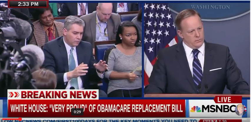 Jim Ocasta Confronts Sean Spicer About Trump's Wiretapping Claim
