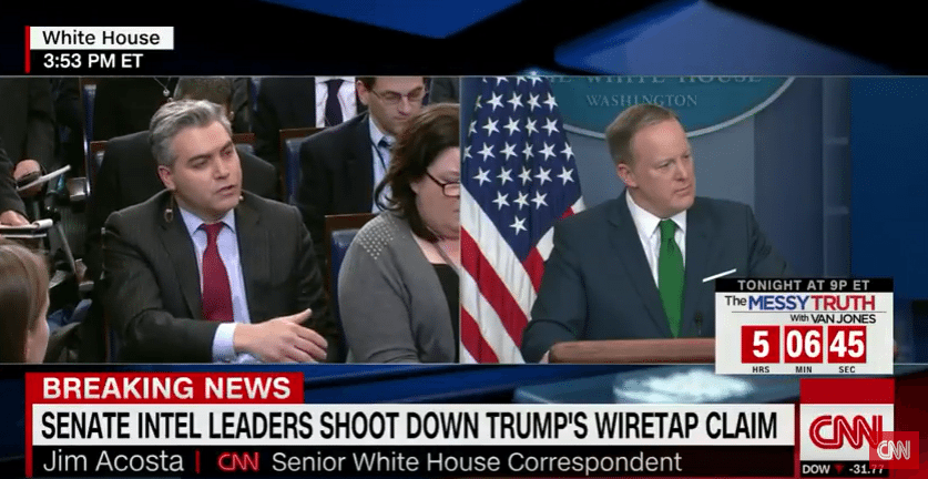 Spicer And Acosta Go Head To Head Over Wiretapping Claim