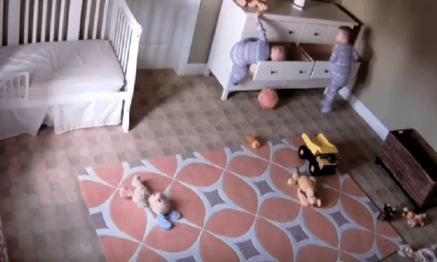 Two Year Old Helps Baby Brother From Getting Crushed By Drawer