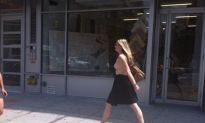 New York Has A Stylish Topless Chick Walking The Streets [NSFW]