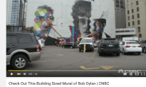 Check Out This Building Sized Mural Of Bob Dylan