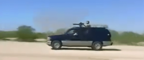 Billionare Security Nasty Surprise Gatling Gun SUV Vehicle For Terrorist Killers