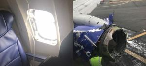 southwest plane damage