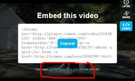 Get Wise: How To Embed A Vimeo Player On Your Blog…!