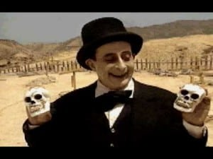 El enterrador y sus frases lapidarias, de la mano de Javier Campos