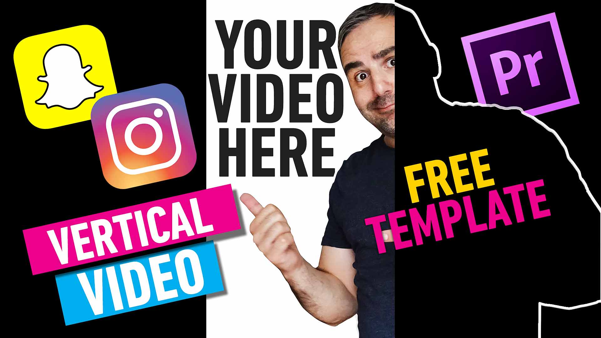 Vertical Video - free template for Instagram and Snapchat - Premiere Pro
